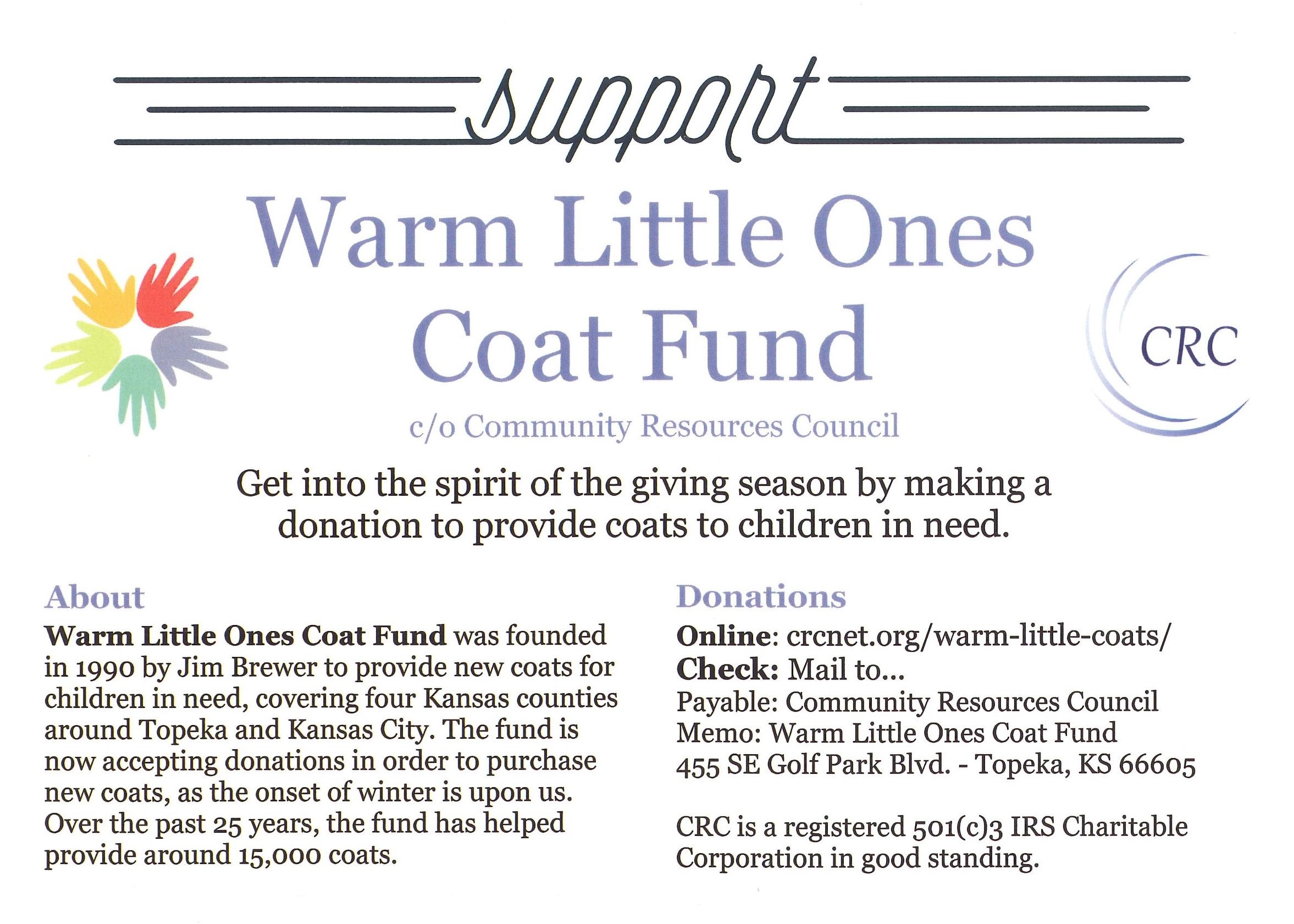Warm Little Ones Coat Fund