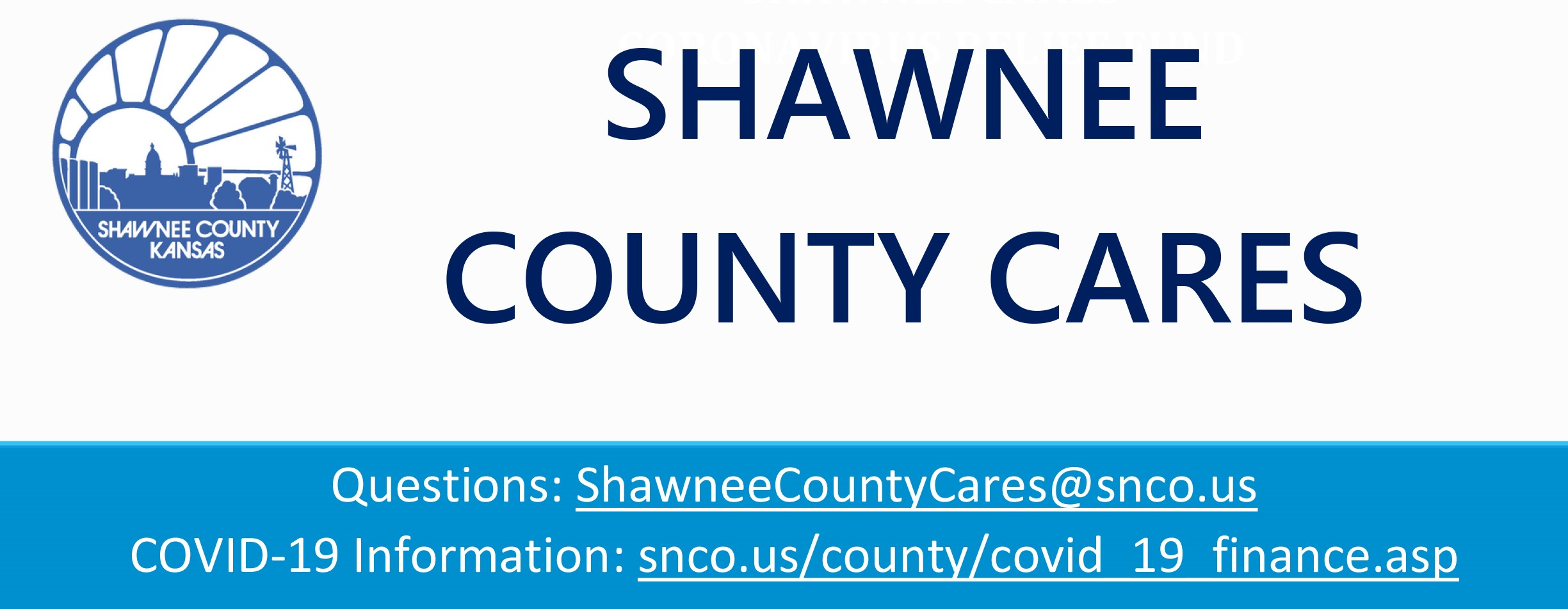 On August 13, the Shawnee County Board of Commissioners approved an allocation plan for the Shawnee County Coronavirus Relief Fund (CRF) monies.  This plan allocates $5,514,572 for Community Based Programs.  This plan will be submitted to the Kansas Recovery Office for their approval.  The State has promised that all plans will be reviewed by September 15th.  If the plan is not approved by the State, the County will be given the opportunity to reallocate the funds and resubmit it to the State for reconsideration.    The Community Based Programs can include but are not limited to:  •	Support to area non-profits for re-opening measures;  •	Small business grant programs;  •	PPE to individuals, business and non-governmental entities;  •	Food security programs; and •	Other essential service providers in the community who are unable to access State and Federal level programs