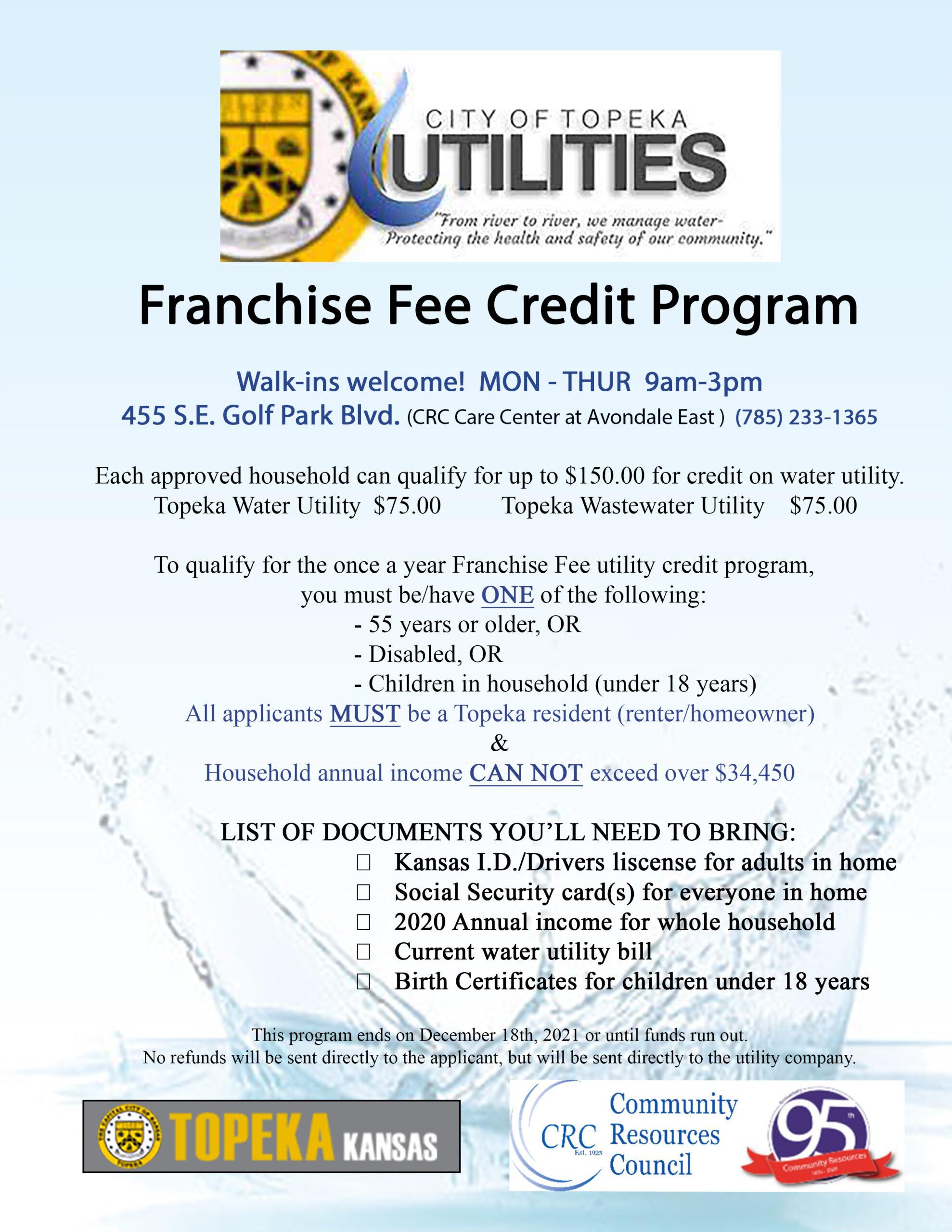 Franchise Fee Credit Program